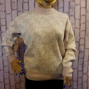 Vintage Made In Canada Bow Opal Sparkle Sweater